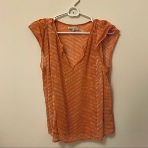 Madewell Silk Patterned Top